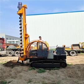 山星机械quan新履带式光fu地ji打zhuang机 4米螺旋钻杆钻孔机 太yang能光fu打zhuang机S890