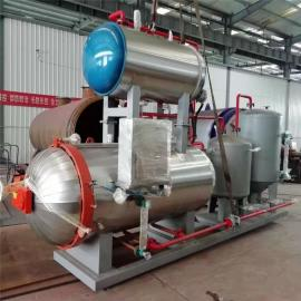 翰德病死畜禽尸体无害化处理设备 化制灭菌湿化机可替代焚烧炉HDXHJ-100