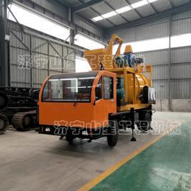 山星机械农用轮式加热沥青拌合机 新旧沥青砂搅拌机 行驶车载式拌合机 SJ-1.5F