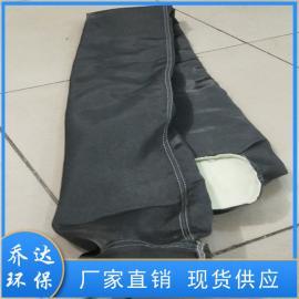 乔达环保耐高温石墨处理玻璃纤维布袋 黑色和米色300*10000