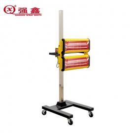 强鑫适用于烤漆房二灯移动红外线烤灯升温加速红外线电加热