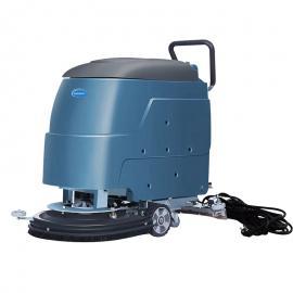 品斯顿手推式洗地机电瓶款菜市场工厂车间重油污地面自动清洗机X-55D