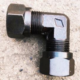 GLTT碳钢高压卡套式直角90#液压接头GBT3740-20#