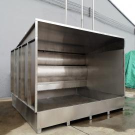 强鑫不锈钢盆式水帘柜可移动式喷漆柜一体式喷漆台QX