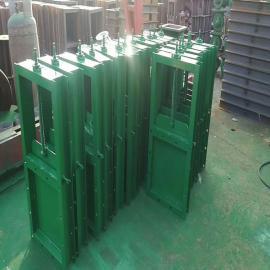 祥元双驱动平板插板阀 方形电动螺旋闸阀矿用电动闸门定制