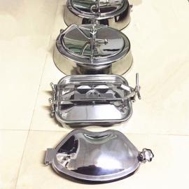 巨捷不锈钢发酵罐方形人孔 果酒食品发酵罐人孔 设备手孔YAE