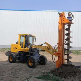 电线杆打桩机 铲车改装钻眼机 装载式路灯杆钻孔机