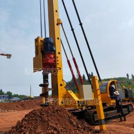 CFG长螺旋打桩机 液压履带式CFG钻机 地基灌注桩机