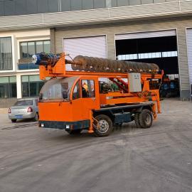 地基打桩机 小型地基螺旋钻机 建筑楼房地基钻孔机
