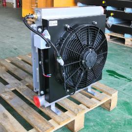 剑邑JIAN YIAH1490-24V随车吊起重机液压油散热器 环卫机械液压风冷却器JYAH1490-24V