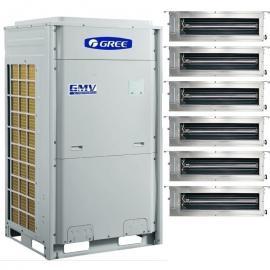 GREE格力格力全变频中央空调别墅主机 格力12匹空调一拖七一拖八风管机GMV-NHDR63P/B
