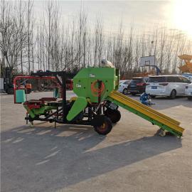 圣泰青贮羊草料打捆包膜机 肉牛养殖用打捆机 型号简介YK5552