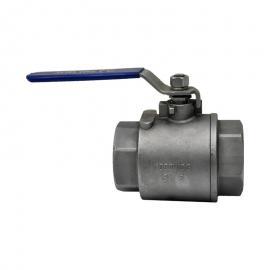宏业不锈钢二件式球阀 国标手动螺纹阀门 可适用液体 汽体等介质2PC