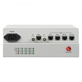 飞畅科技 桌面型 1-16路电话 E1-PCM语音复用设备