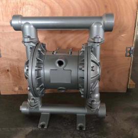 唐玛・泵阀(TANG MA)QBY3-25A铝合金气动隔膜泵,F46膜片铝合金气动泵,气动双隔膜泵QBY3-25ALF