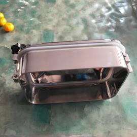 巨捷机械卫生级焊接方形人孔 卫生级长方形手孔盖 单压条外开人孔YAE