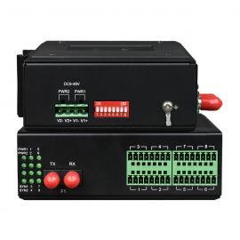 飞畅科技 工业轨式 1-16路 模拟量光端机 4-20MA电流 0-10V电压转光纤