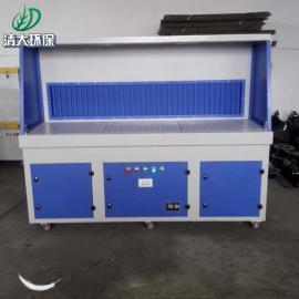 清大环保一体机集尘台/打磨除尘工作台/移动式抛光打磨台2000*1000*1600