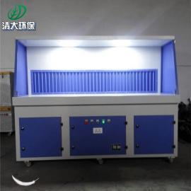 清大环保打磨车间工况处理粉尘打磨台 三人工位打磨工作台2500*1000*1600