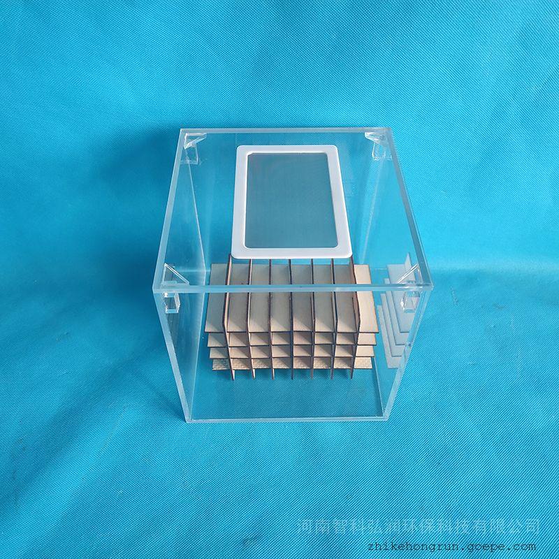 智科弘润全透明玻璃材质蟑螂饲养缸牢固可靠易于观察取样ZK-SYG-A