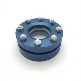 巨捷碳钢罐用视镜DN100防爆罐顶法兰视镜带灯平焊法兰玻璃观察窗视盅HG/T21619