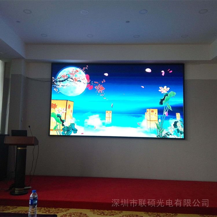 联硕酒店宴会厅P3高清LED全彩电子屏18平方设计制作方案