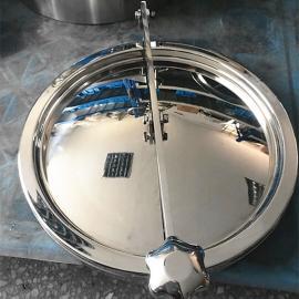 巨捷卫生级全玻璃人孔盖 不锈钢视镜人孔450MM常压人孔手孔
