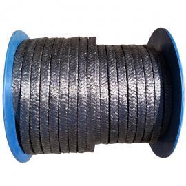 纯石墨盘根耐高温柔性钢丝缠绕密封绳金属聚四佛乙烯油浸水泵