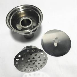 巨捷 卫生级水封洁净隔断器 不锈钢制药净化工程无尘室洁净地漏