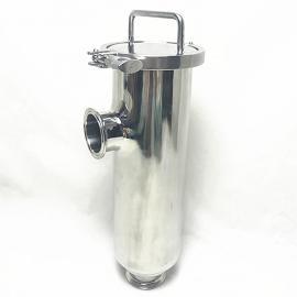 巨捷卫生级快装角式管道过滤器 中头螺母或卡箍 快开人孔