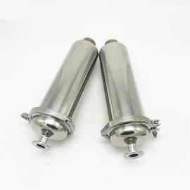 巨捷卫生级管道过滤器 不锈钢直通式卡箍是快装饮料白酒啤酒过滤网