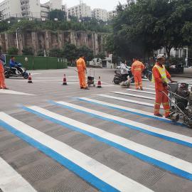 兆基马路热熔振荡标线公司 小区学校工厂道路划线施工队伍