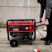 翰丝电启动单三相8KW汽油发电机HS9800CXE