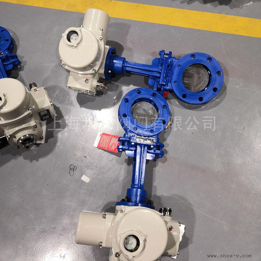 水兴阀门PZ973W-16PR硬密封电动不锈钢刀型闸阀 电动浆液阀 硬密封耐磨PZ973HXFW-6/10/16C/P等
