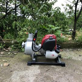 杰魁森1寸手提汽油抽水泵 �r用�@林草坪大棚灌溉抽水�C