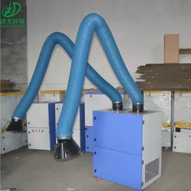 清大环保 移动焊烟净化设备 采用滤芯过滤粉尘 单臂焊烟净化器型号定制QD-2000