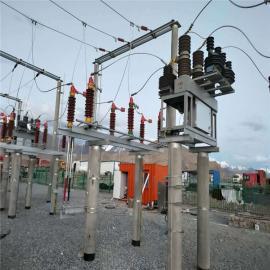 35KV水平式柱上高压隔离开关双接地产品GW4-40.5DD/630A