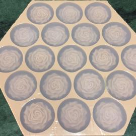 DIY手工心形巧克力模具硅胶红叶E615