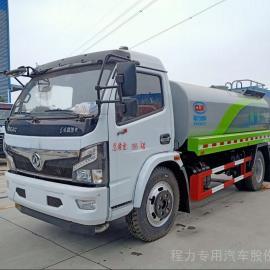 东风天锦LNG国六13吨洒水车配置10吨洒水车